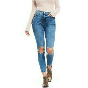 NWT | Free People |busted knee distressed jean 28s